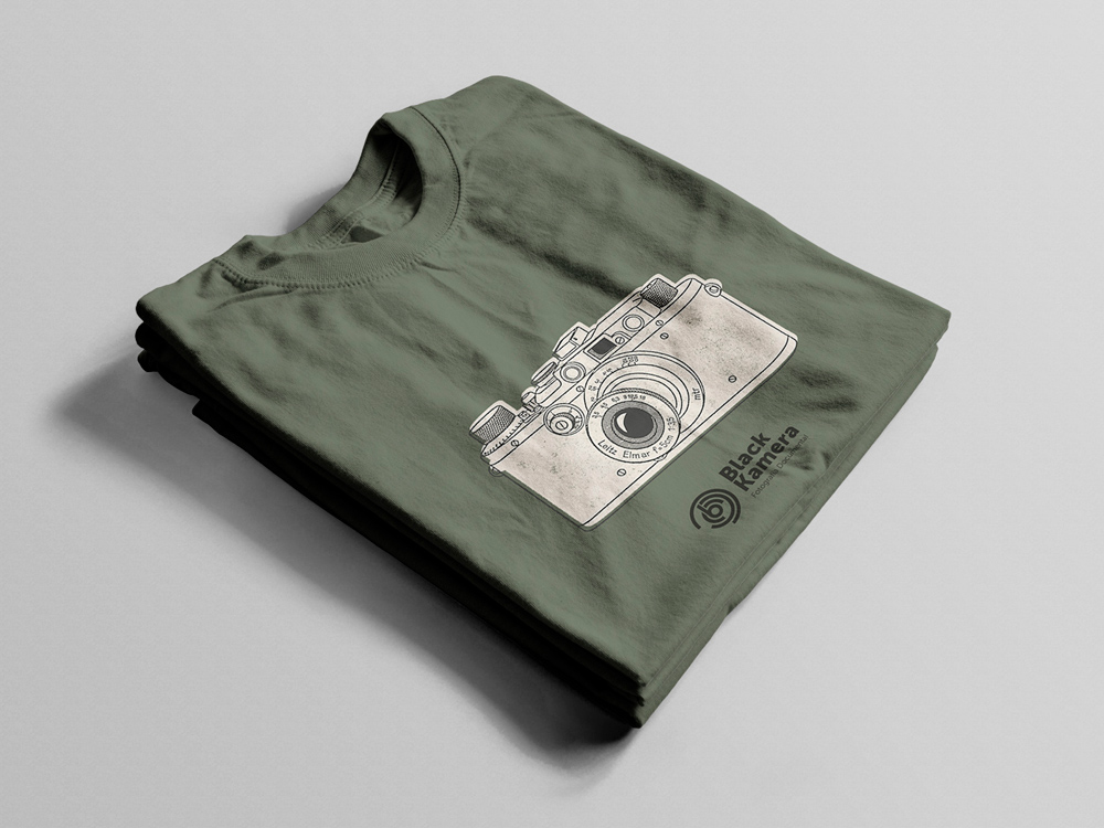 Black Kamera Camiseta