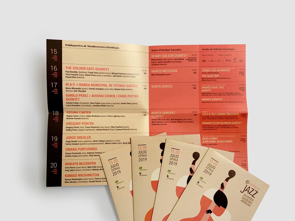 Festival de Jazz de Vitoria-Gasteiz Estandartes promocionales
