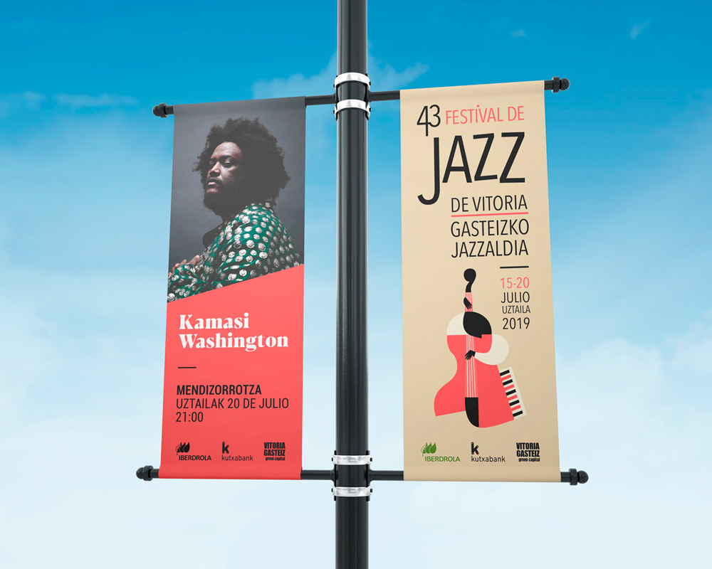 Festival de Jazz de Vitoria-Gasteiz estandartes